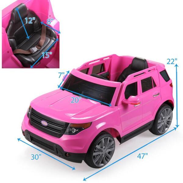 6V Remote Control Kids Ride On Car, Pink 6v remote control kids ride on car pink 34