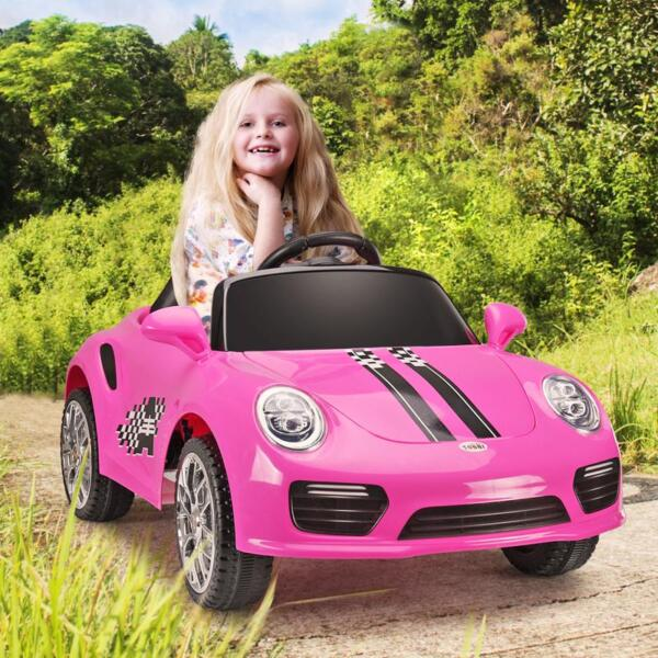 6V Remote Control Kids Ride on Car with MP3, Pink 6v remote control kids ride on car with mp3 pink 18
