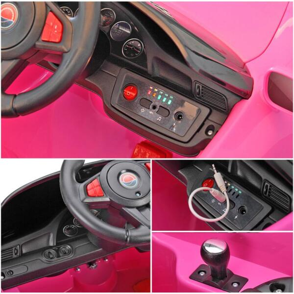 6V Remote Control Kids Ride on Car with MP3, Pink 6v remote control kids ride on car with mp3 pink 25
