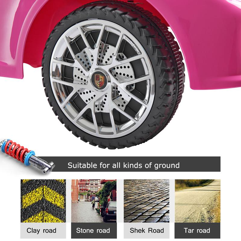6V Pink Power Wheel Car for Kids W/ MP3 6v remote control kids ride on car with mp3 pink 26 2