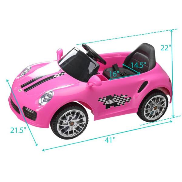 6V Remote Control Kids Ride on Car with MP3, Pink 6v remote control kids ride on car with mp3 pink 31 1