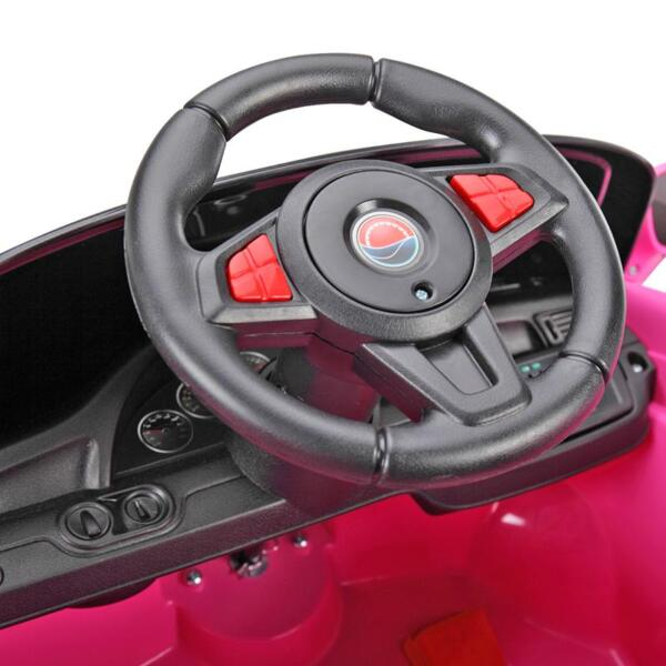 6V Remote Control Kids Ride on Car with MP3, Pink 6v remote control kids ride on car with mp3 pink 32