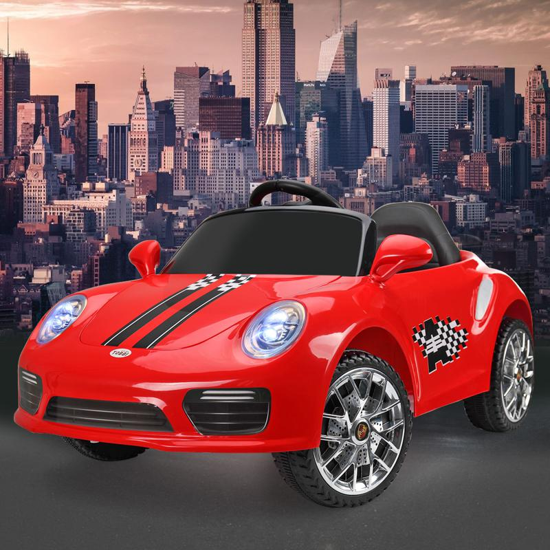 6V Ride On RC Car Kids Vehicle, Red 6v remote control kids ride on car with mp3 red 17 1