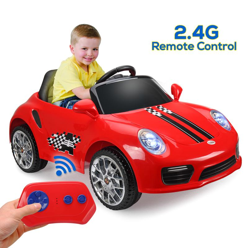 6V Ride On RC Car Kids Vehicle, Red 6v remote control kids ride on car with mp3 red 19 1
