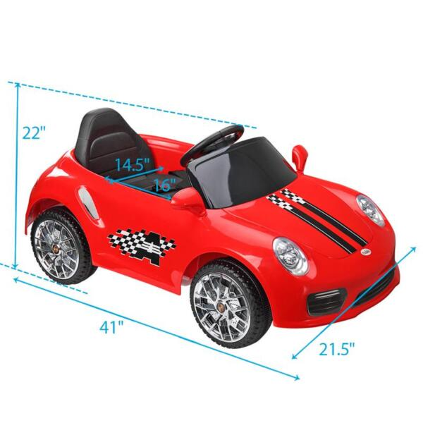 6V Remote Control Kids Ride on Car with MP3, Red 6v remote control kids ride on car with mp3 red 27 1