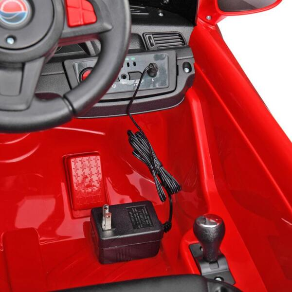 6V Remote Control Kids Ride on Car with MP3, Red 6v remote control kids ride on car with mp3 red 36 1
