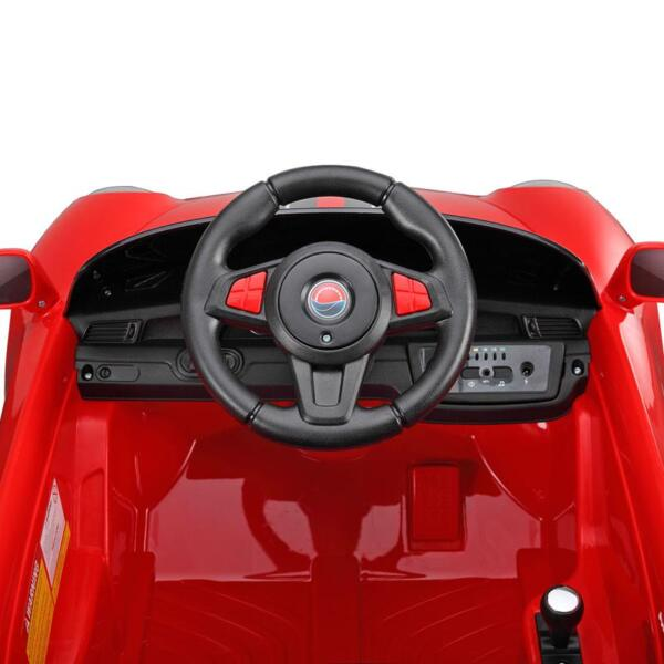 6V Remote Control Kids Ride on Car with MP3, Red 6v remote control kids ride on car with mp3 red 4