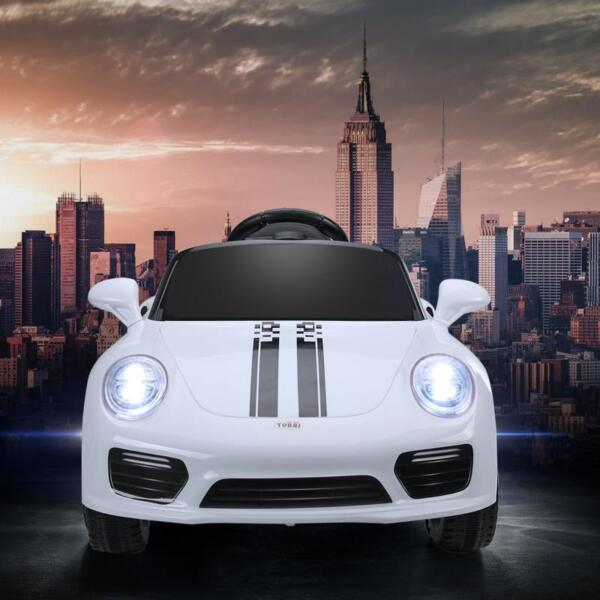 White Luxury Kids Car Powered Riding Toy 6v remote control kids ride on car with mp3 white 20 1