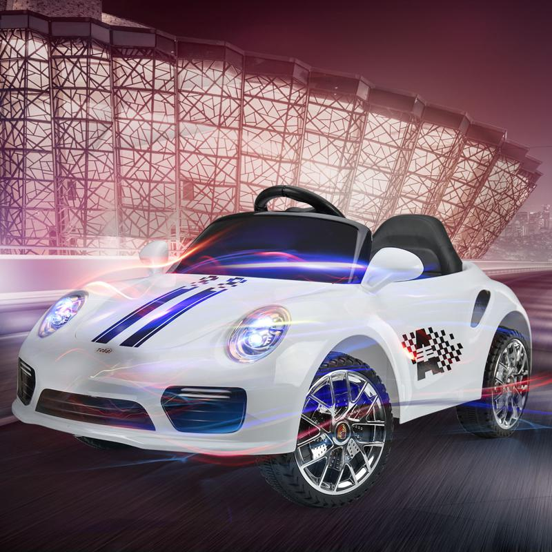 White Luxury Kids Car Powered Riding Toy 6v remote control kids ride on car with mp3 white 21 2
