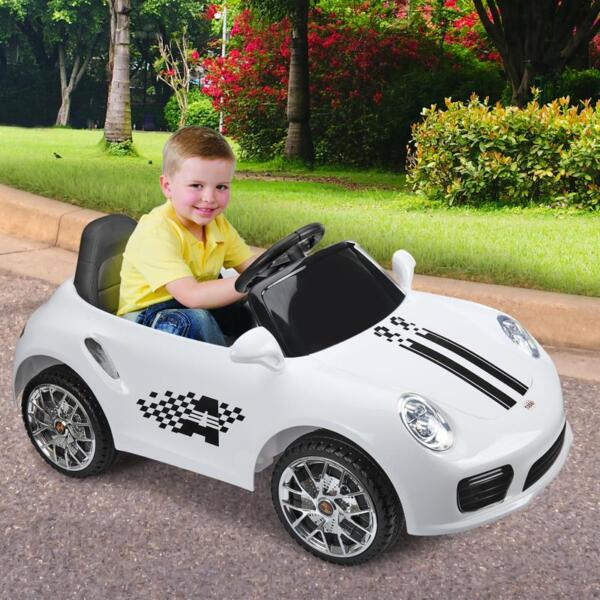 White Luxury Kids Car Powered Riding Toy 6v remote control kids ride on car with mp3 white 23 1