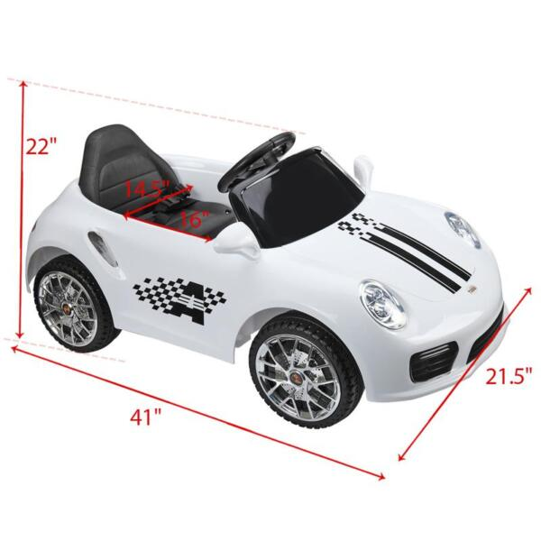 White Luxury Kids Car Powered Riding Toy 6v remote control kids ride on car with mp3 white 28 2