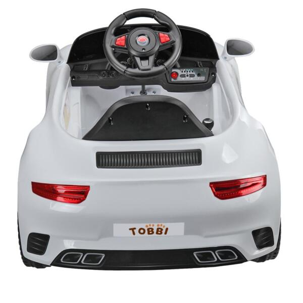 White Luxury Kids Car Powered Riding Toy 6v remote control kids ride on car with mp3 white 5 1