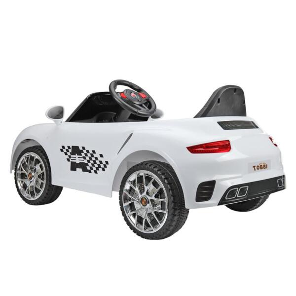 White Luxury Kids Car Powered Riding Toy 6v remote control kids ride on car with mp3 white 7 1