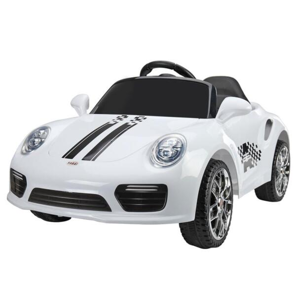 White Luxury Kids Car Powered Riding Toy 6v remote control kids ride on car with mp3 white 8