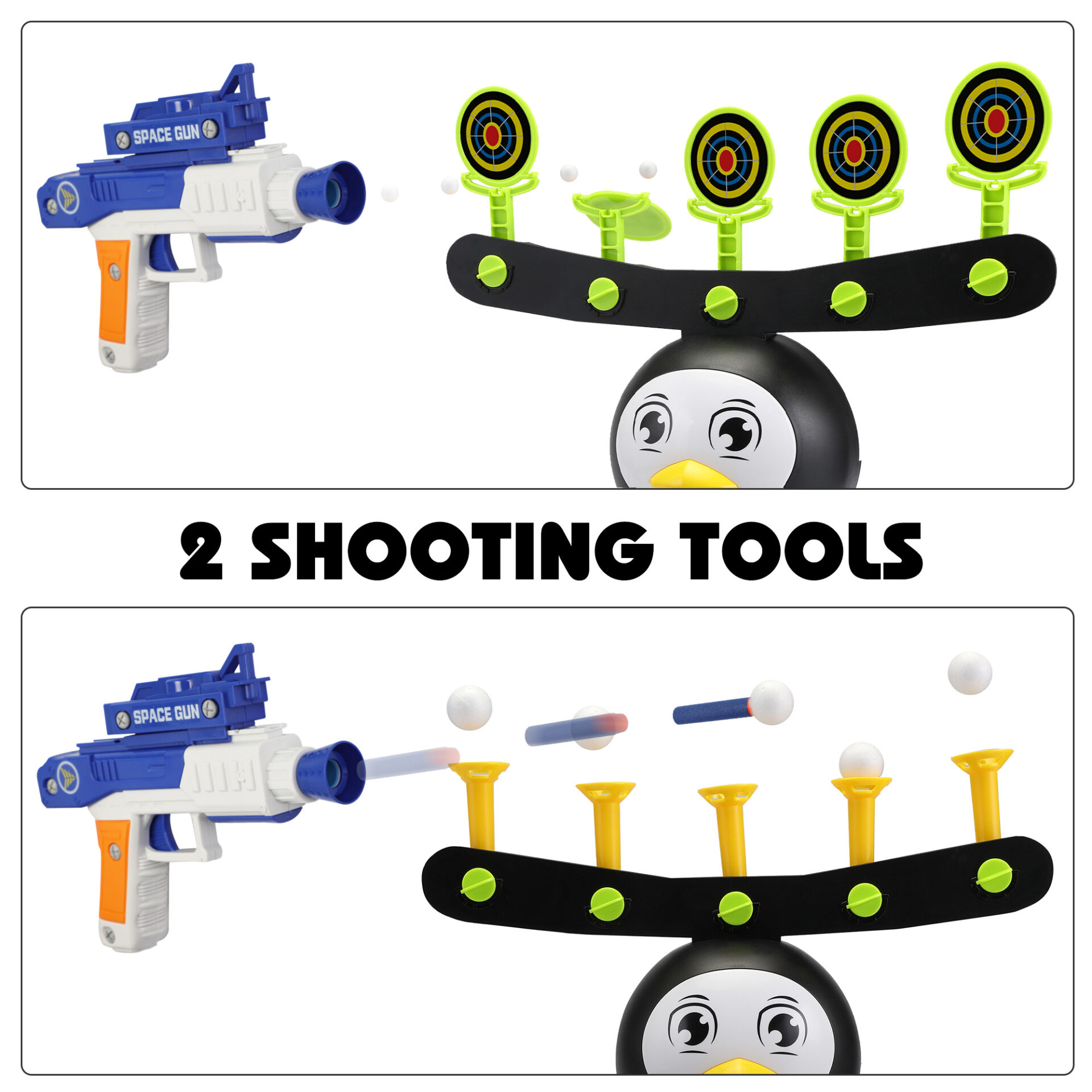 Penguin Shooting Games Target Practice Toys for Kids 7 1