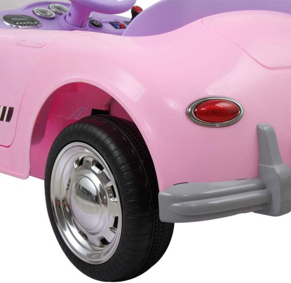 Vintage Style Battery Powered Kids Ride on Car with Remote Control, Pink 7 14
