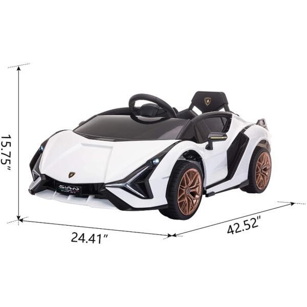 Licensed Lamborghini Sian 12V Children's Electric Ride On Car Toy 7 17