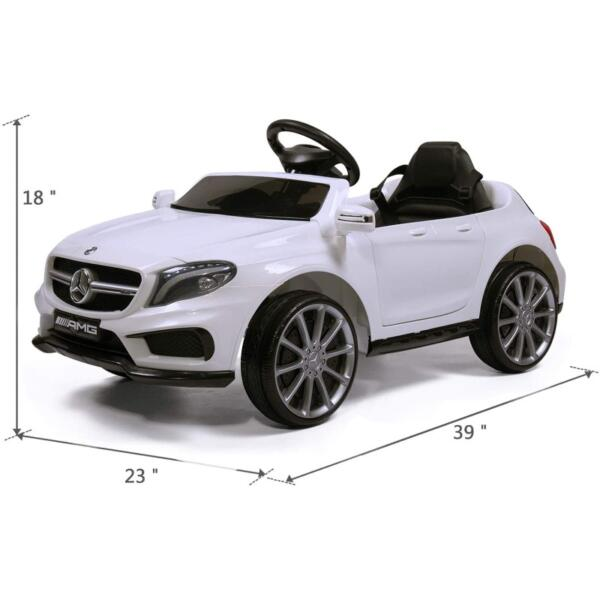 Licensed Mercedes Benz RC Car Toy with Double Doors, White 7 19