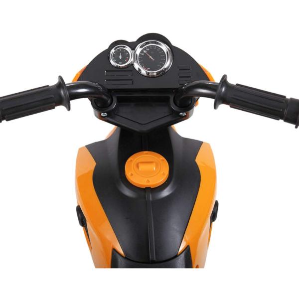 6V Kids Motorcycle Battery Powered Motorcycle for Kids, Orange 7 3