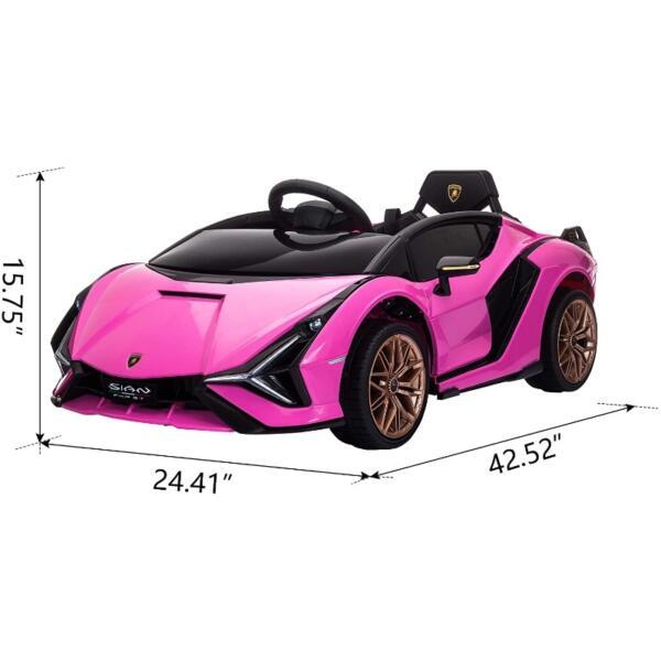 12V Kids Car Licensed Lamborghini Sian with Remote Control for Girls 7 32