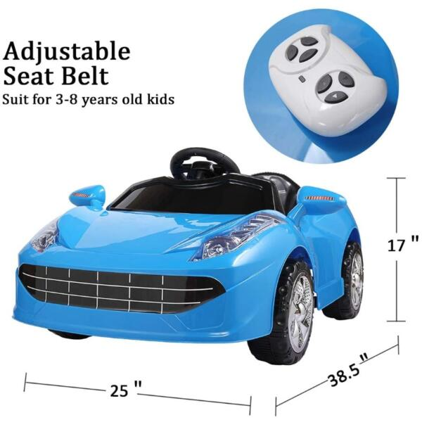 6V Kids Ride-on Sports Car Rechargeable Toy Vehicle 7 37