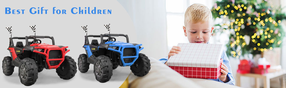 12V Powerful Kids Truck Ride on 2-Seater Battery Car for Child 7 38