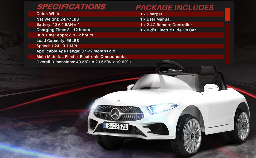 12V Electric Car for Kids Licensed Mercedes Benz CLS 350 Ride On Car 7 41