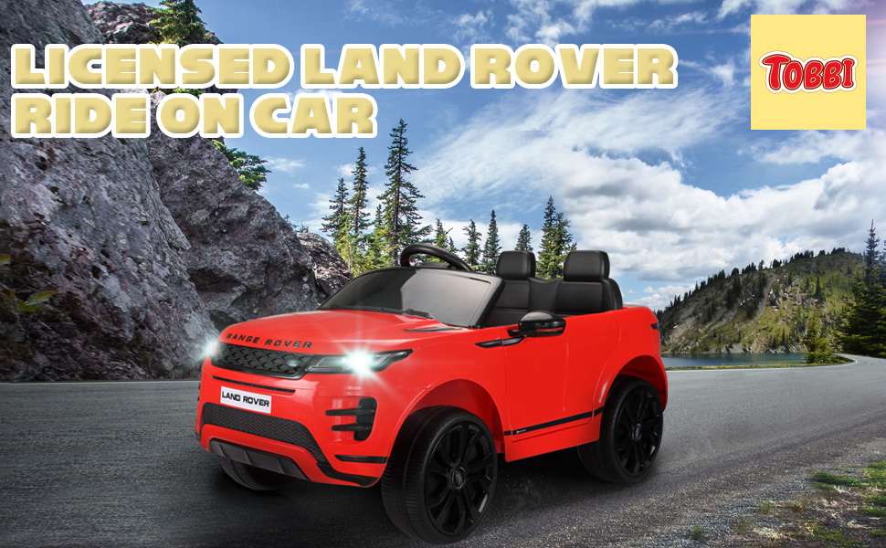 12V Land Rover Kids Power Wheels Ride On Toys With Remote, Red 7 46