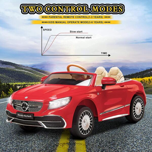 12V Mercedes-Maybach Kids Ride on Car with Remote Conrtol, Red 7 49