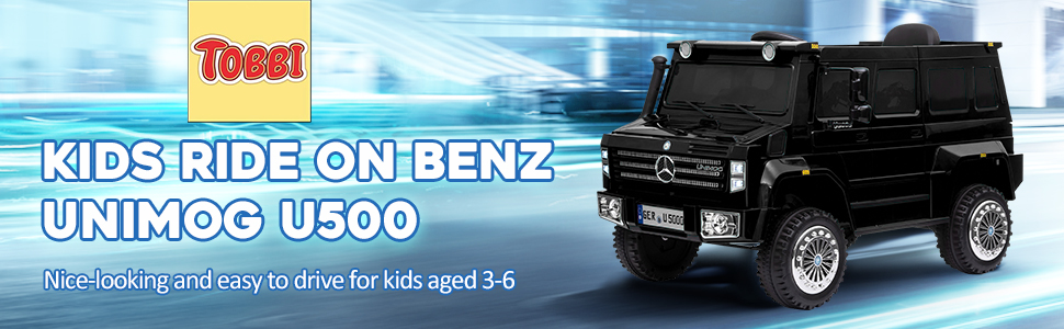 6V Mercedes Benz Unimog U500 Kids Ride on SUV Car with Remote Control, Black 7 50