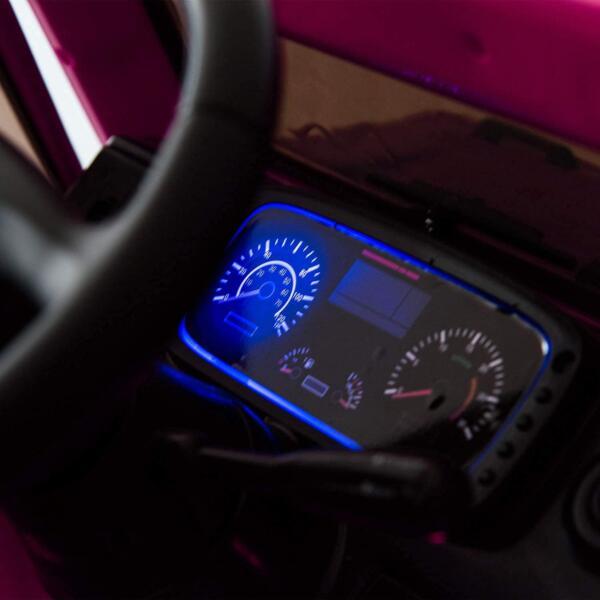 6V Mercedes Benz Unimog U500 Kids Ride on SUV Car with Remote Control, Rose Red 7 56