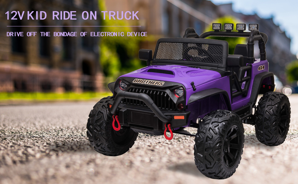 12V Remote Control Ride On Jeep Electric Car for Child 7 57