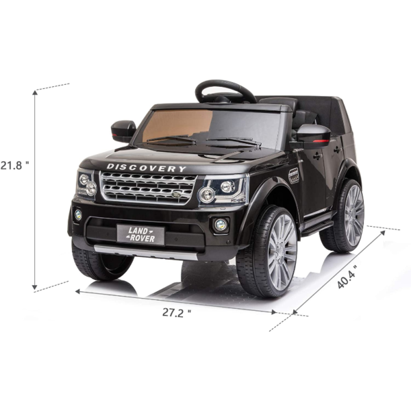 12V Licensed Land Rover Power Wheels Ride on SUV for Kids with Remote Control, Black 7 6
