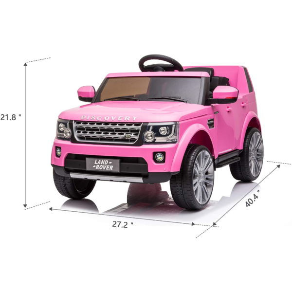 12V Licensed Land Rover Power Wheels Ride on SUV for Kids with Remote Control, Pink 7 8