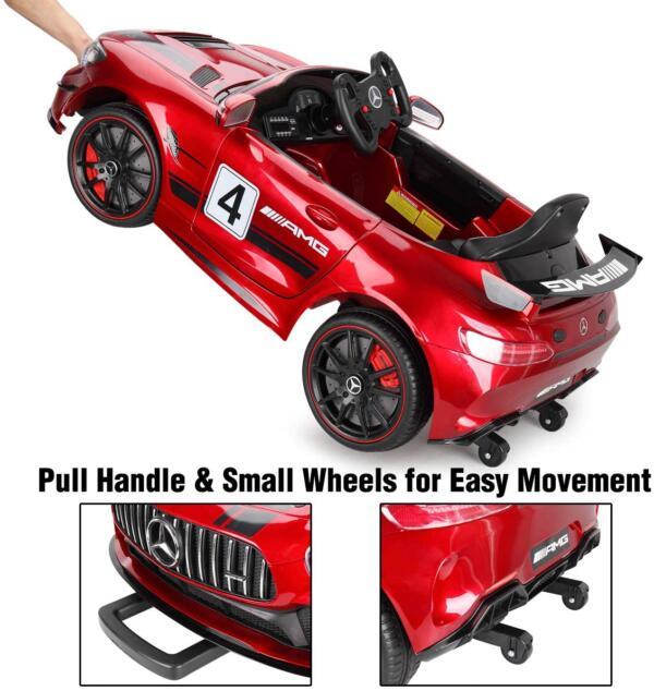 12V Electric Licensed Mercedes Benz AMG GT Kid Ride on Car, Red 71UlD3718vL. AC SL1200