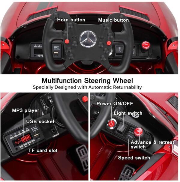 12V Electric Licensed Mercedes Benz AMG GT Kid Ride on Car, Red 71vtpJ4pwZL. AC SL1200
