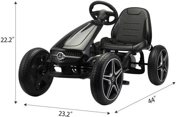 Mercedes Benz Kids Go Kart Ride On Car For Children, Black 71y3t63dF4L. AC SL1500