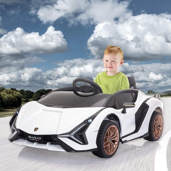 Licensed Lamborghini Sian 12V Children's Electric Ride On Car Toy 8 14