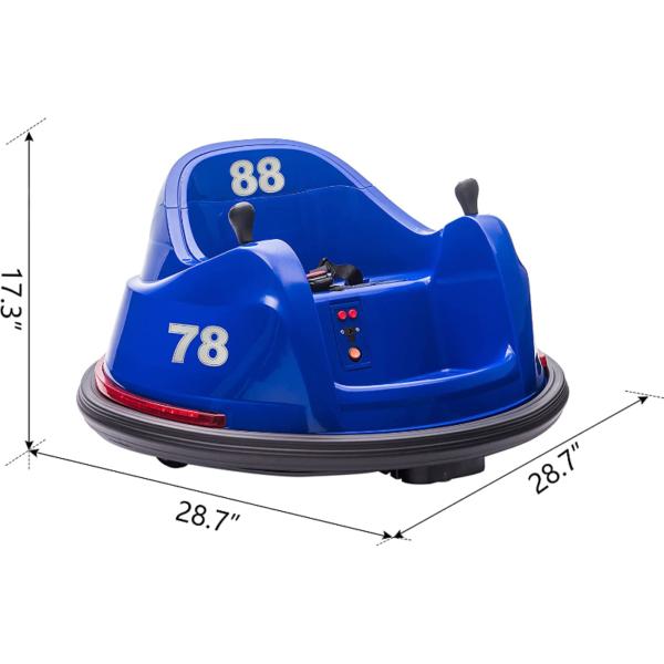 6V Electric Baby Bumper Car with Remote Control, Dark Blue 8 2