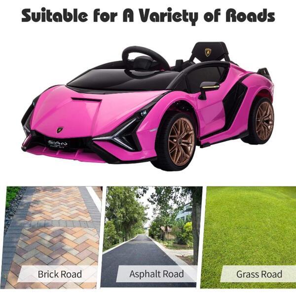 12V Kids Car Licensed Lamborghini Sian with Remote Control for Girls 8 23
