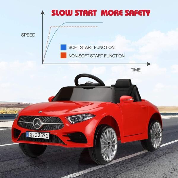 Licensed Mercedes Benz CLS 350 Ride On Car for Kids, Red 8 24