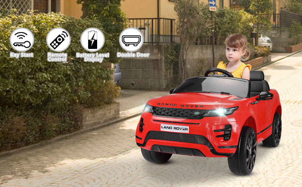 12V Land Rover Kids Power Wheels Ride On Toys With Remote, Red 8 30