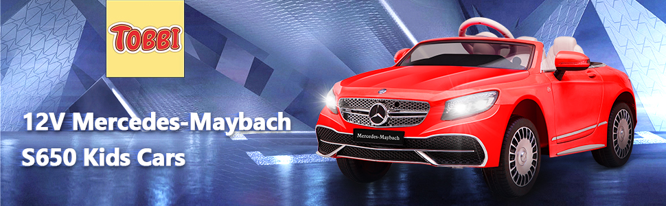 12V Mercedes-Maybach Kids Ride on Car with Remote Conrtol, Red 8 33