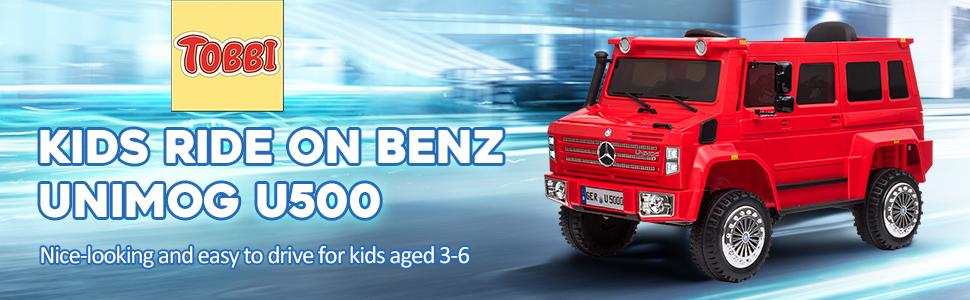 6V Mercedes Benz Unimog U500 Kids Ride on SUV Car with Remote Control, Red 8 35