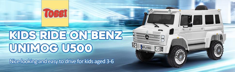 6V Mercedes Benz Unimog U500 Kids Ride on SUV Car with Remote Control, White 8 36