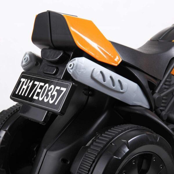 6V Kids Motorcycle Battery Powered Motorcycle for Kids, Orange 8 7