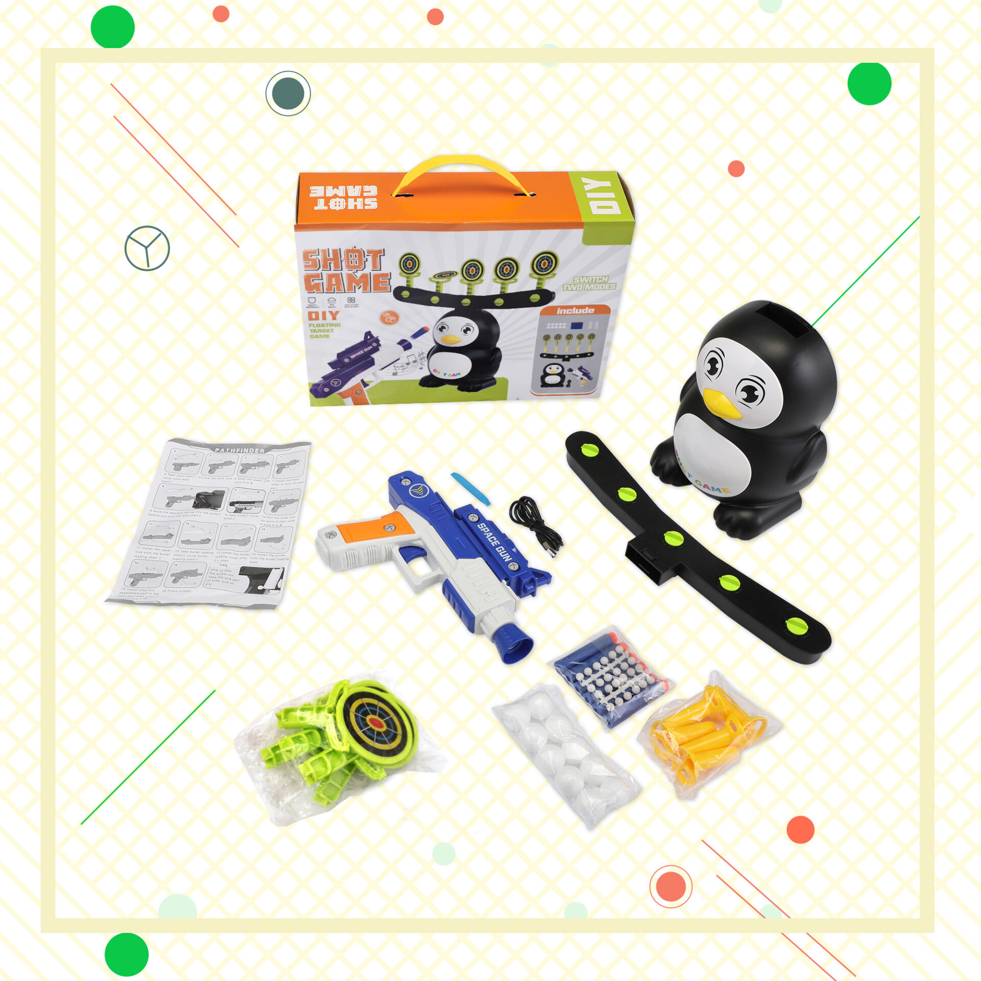 Penguin Shooting Games Target Practice Toys for Kids 8