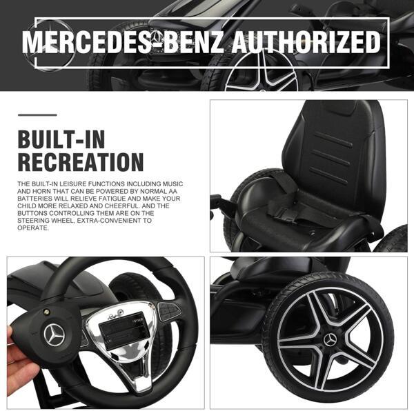 Mercedes Benz Kids Go Kart Ride On Car For Children, Black