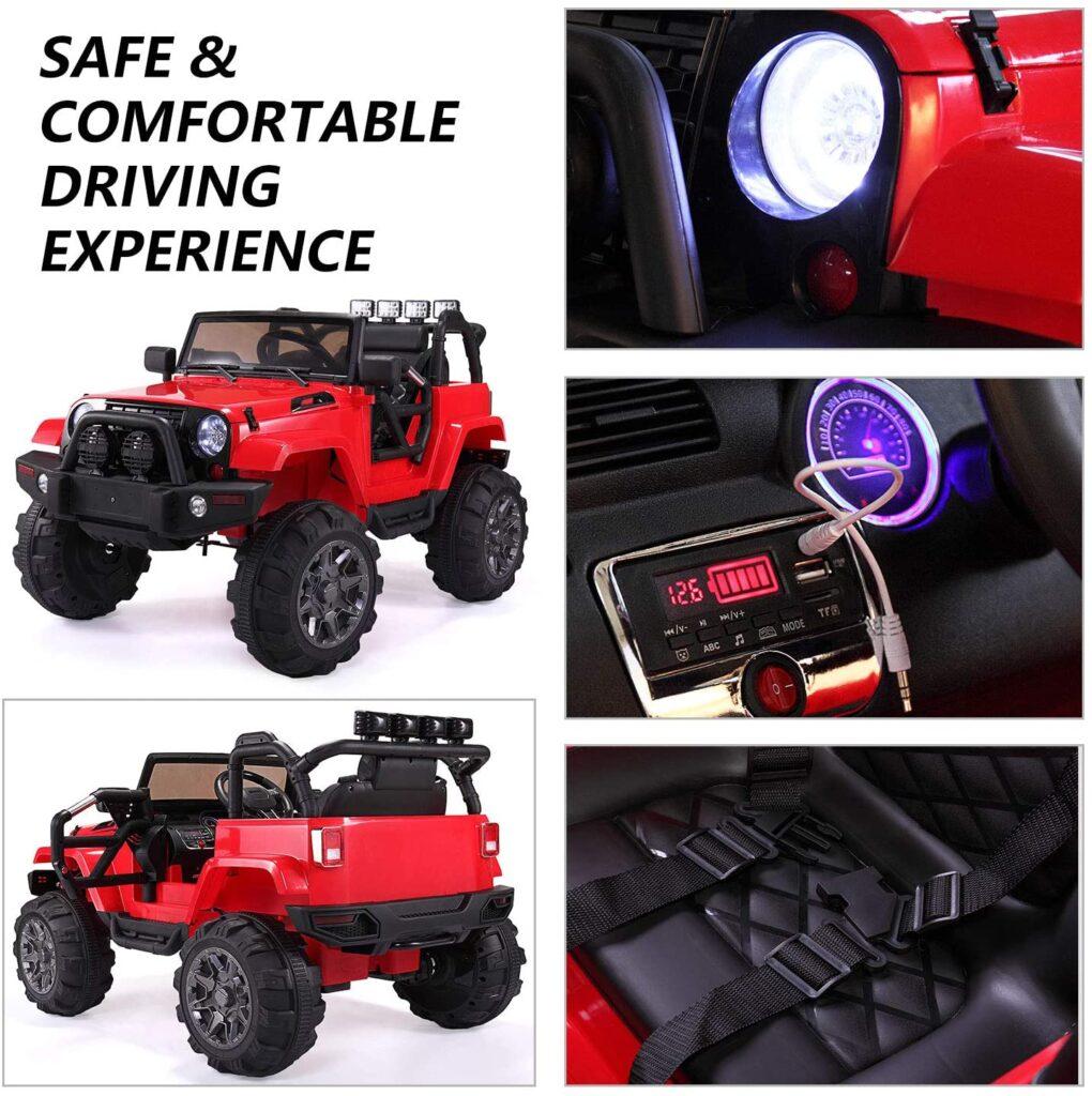 12V Kids Jeep Wrangler Electric Car W/ RC 81XWm1eJvSL. AC SL1500