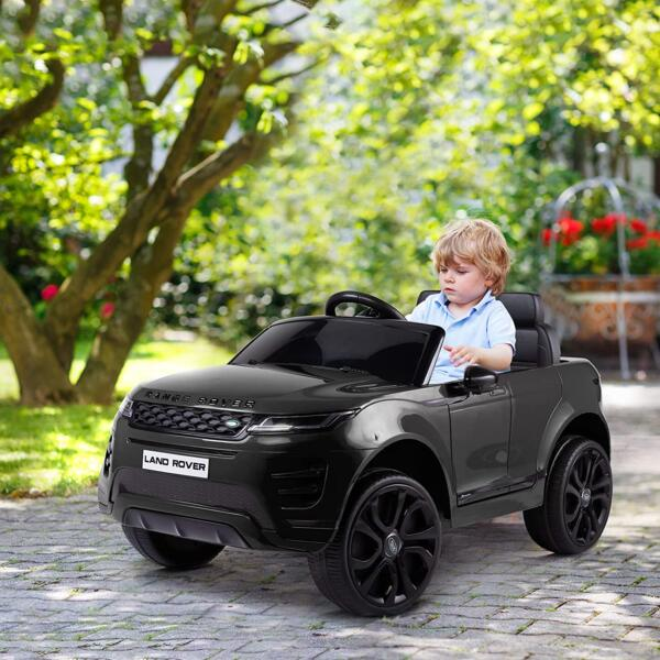 12V Land Rover Kids Power Wheels Ride On Toys With Remote, Black